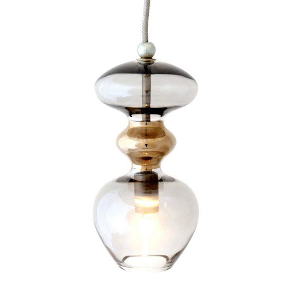 Futura Pendant Lamp, Smokey Grey, 24cmH