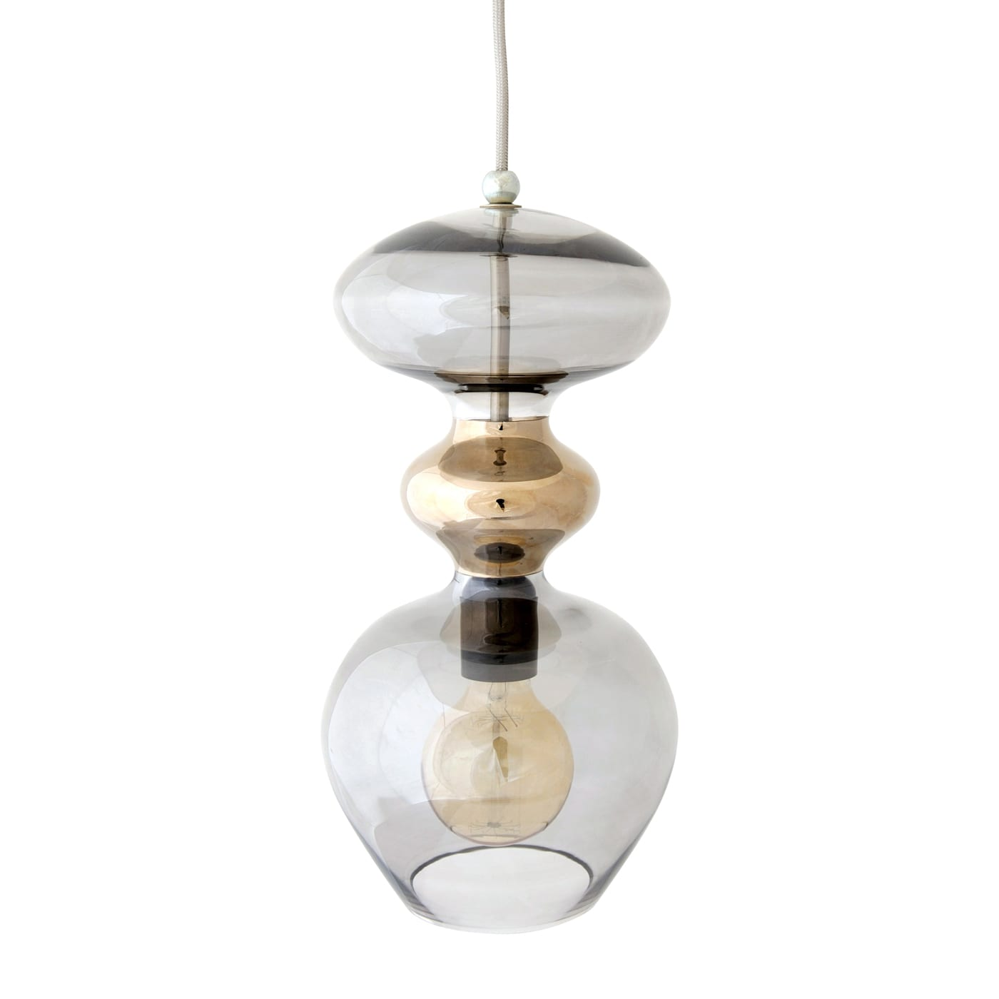 Futura Pendant Lamp, Chestnut Brown, 37cmH