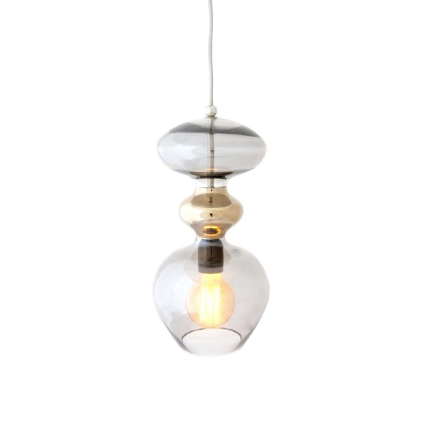 Futura Pendant Lamp, Smokey Grey, 37cmH