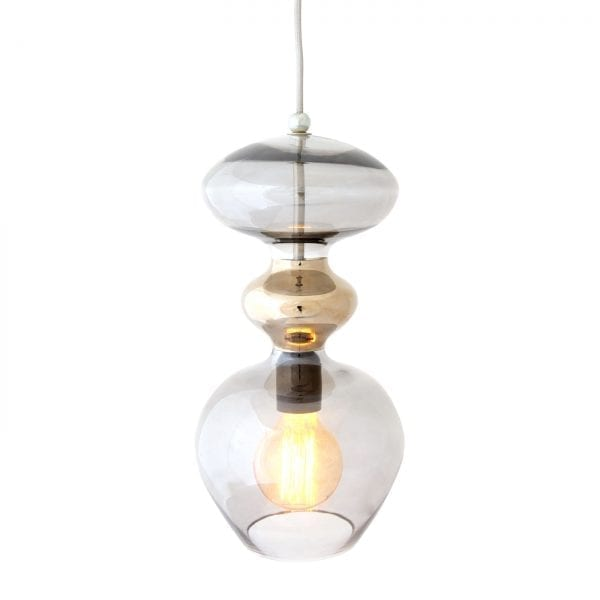 Futura Pendant Lamp, Chestnut Brown, 37cmH