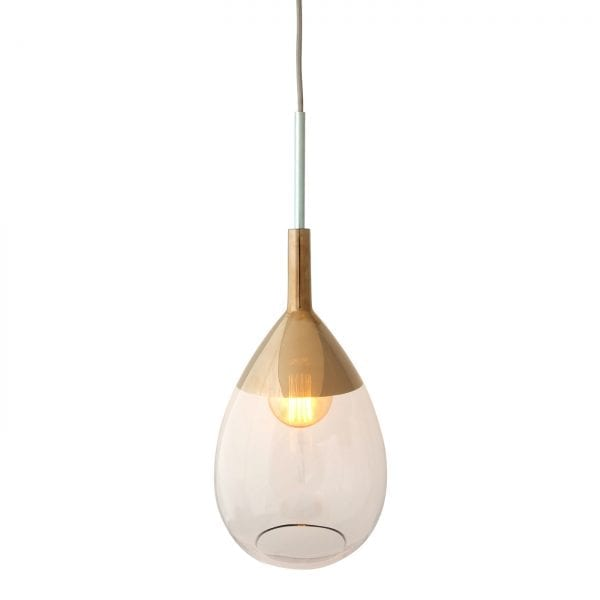 Lute Pendant Lamp, Clear / Platinum, 49cmH