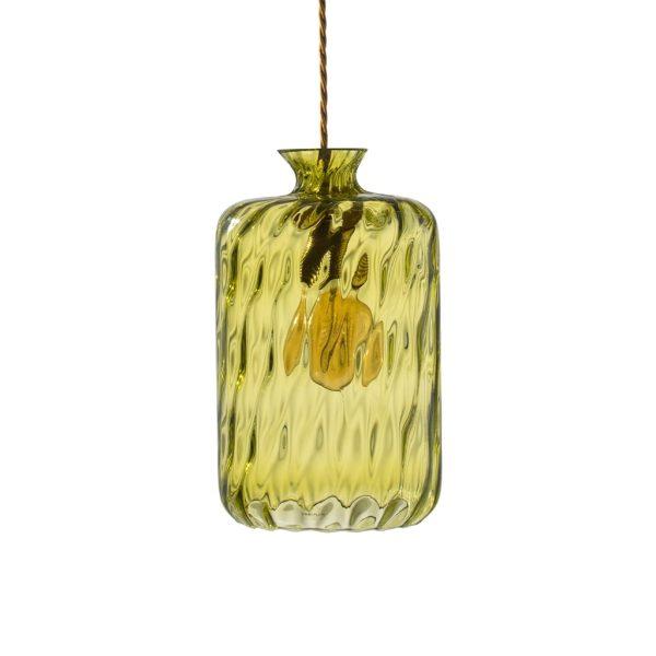 Pillar Lamp, Dimples, Olive