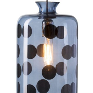 Pillar Pendant Lamp, Blue Dots on Blue 1
