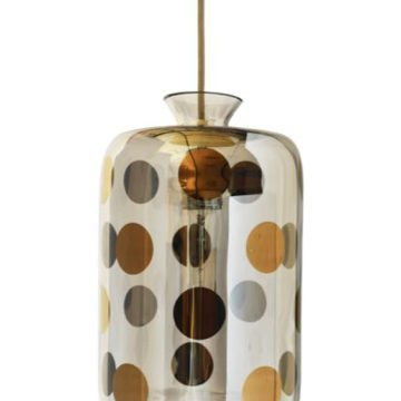 Pillar Pendant Lamp, Platinum Dots 1