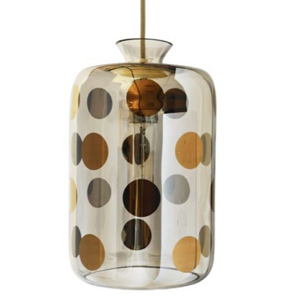 Pillar Pendant Lamp, Platinum Dots