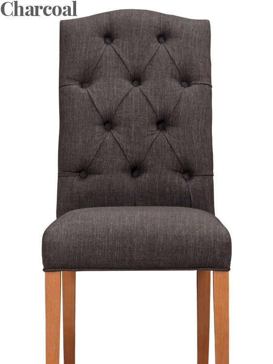 Christy Fabric Dining Chair Charcoal