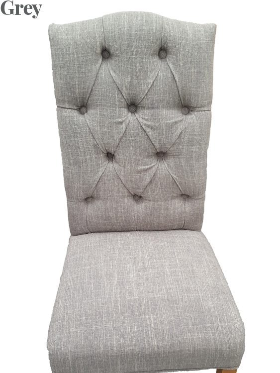 Christy Fabric Dining Chair Grey