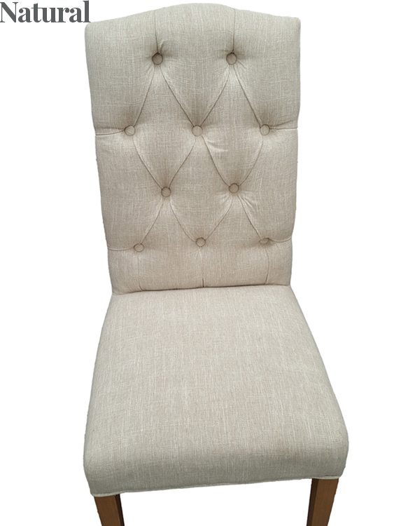 Christy Fabric Dining Chair Natural