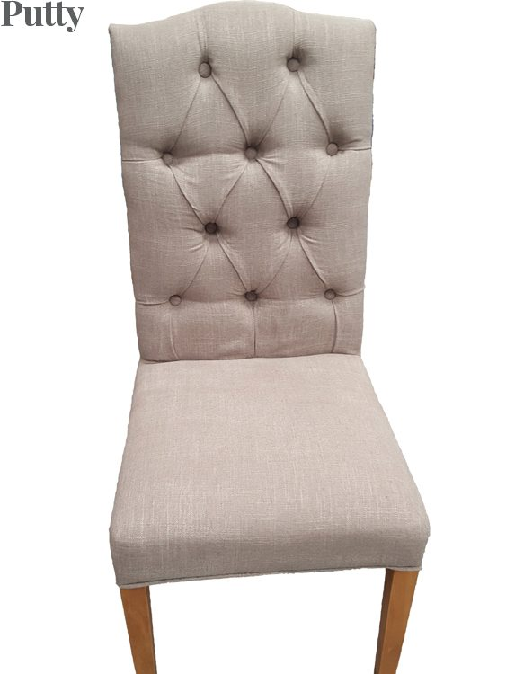 Christy Fabric Dining Chair Putty