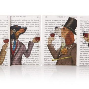 Fab Funky Wine Snob Set of 4 Coasters