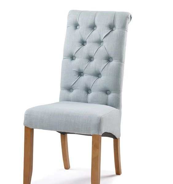Ella Bella Fabric Dining Chair Duck Egg