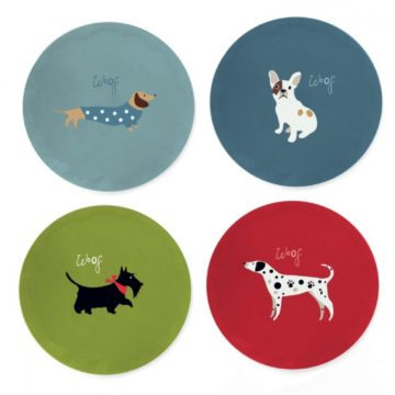 Walkies Set of 4 Coasters
