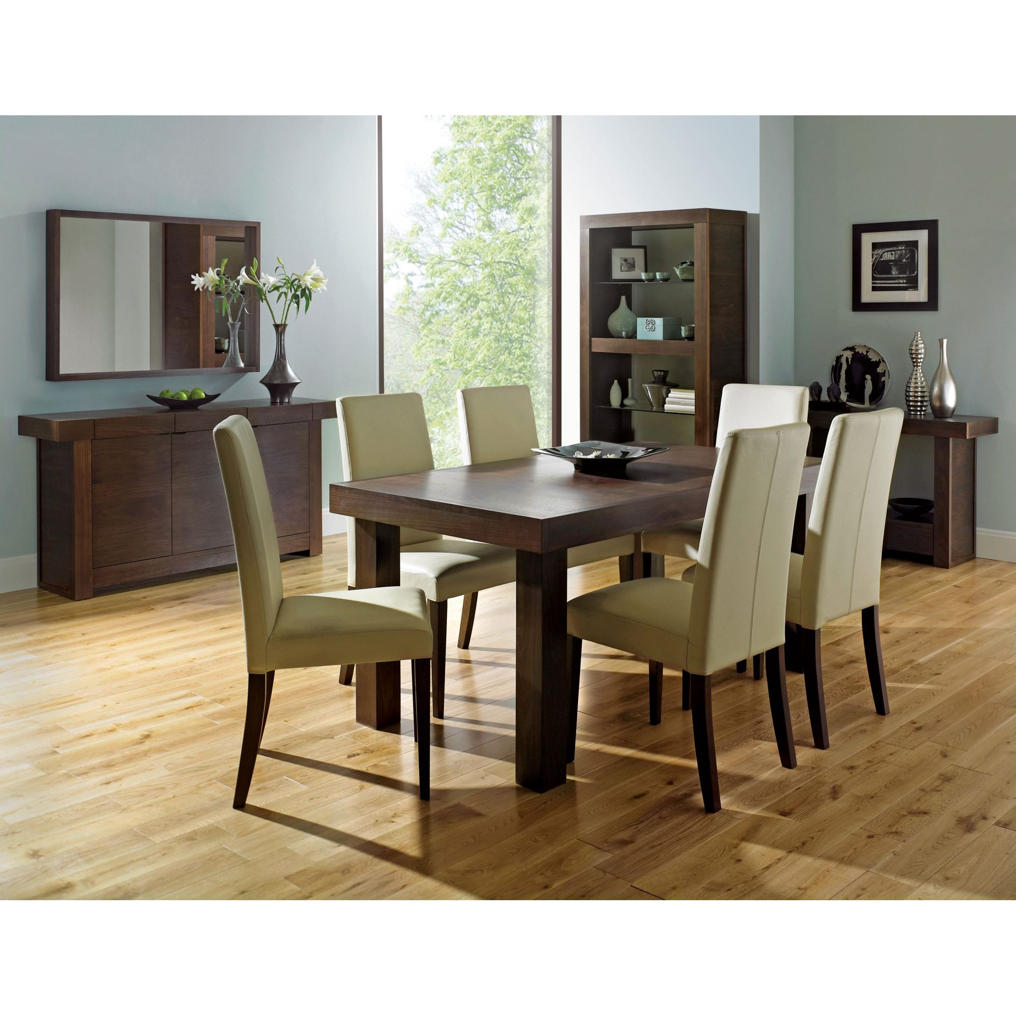 Akita Walnut 6-8 End Extension Dining Table 5