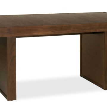 Akita Walnut 6 Seater Panel Dining Table