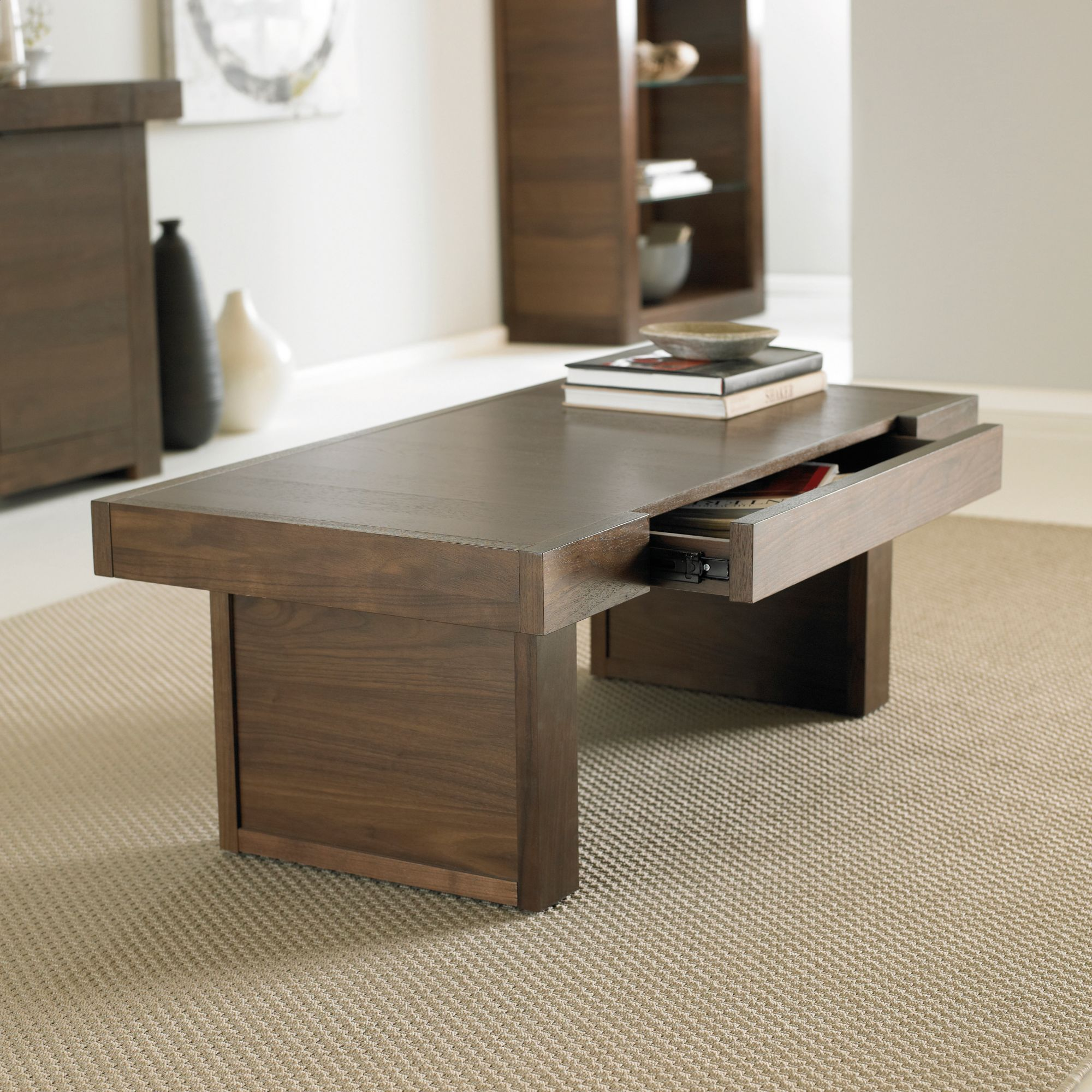 Walnut Oval Coffee Table Uk: Akita Walnut Coffee Table