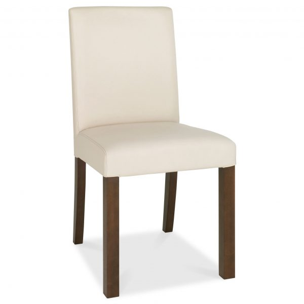 Akita Walnut Square Back Upholstered Chair PAIR