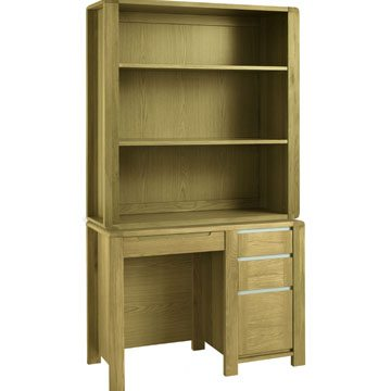 Casa Oak Desk with Top Unit