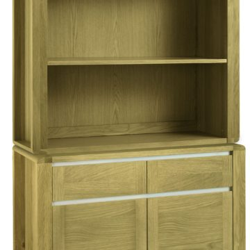 Casa Oak Narrow Sideboard with Top Unit