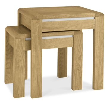 Casa Oak Nest of Lamp Tables