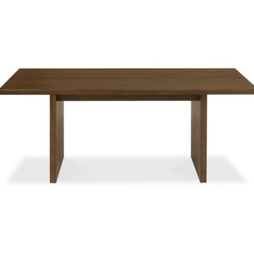 City Walnut 6 Seater Panel Table