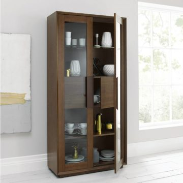 City Walnut Display Cabinet