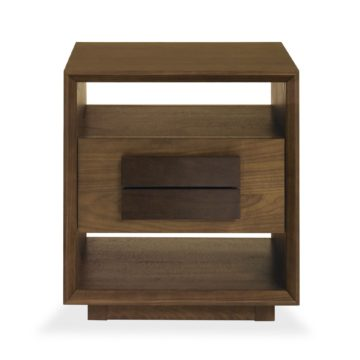 City Walnut Lamp Table with Drawer