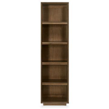 City Walnut Narrow Bookcase