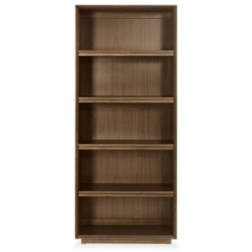 City Walnut Wide Bookcase