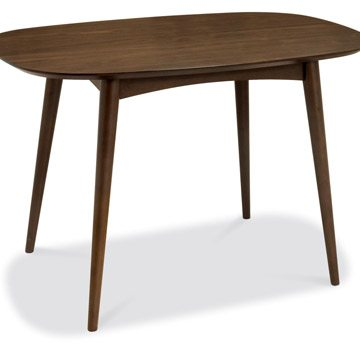 Oslo Walnut 4 Seater Fixed Dining Table
