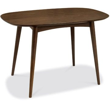 Oslo Walnut 6 Seater Fixed Dining Table