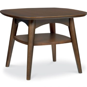 Oslo Walnut Lamp Table with Shelf