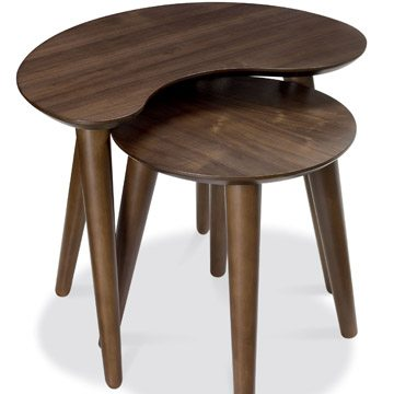 Oslo Walnut Nest of Lamp Tables
