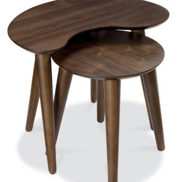 Oslo Walnut Nest of Lamp Tables