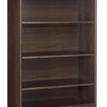 Oslo Walnut Wide Bookcase