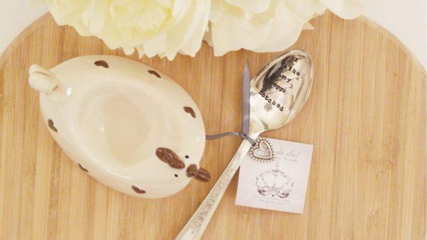 Teaspoon -'I like my eggs hatched'