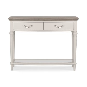 Montreux Washed Oak & Soft Grey Console Table