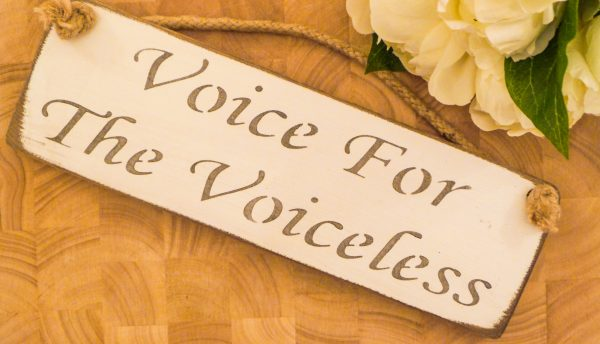 Vegan Wall Plaque - Voice For The Voiceless