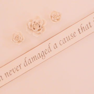 Vegan Wall Plaque - Truth never damaged a cause that is just