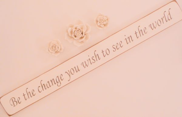 Vegan Wall Plaque - Be the change