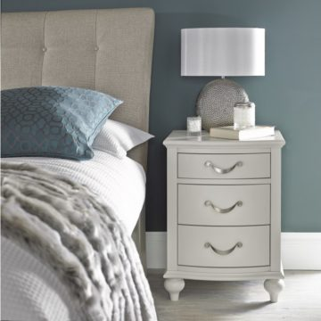 Montreux Soft Grey 3 Drawer Nightstand