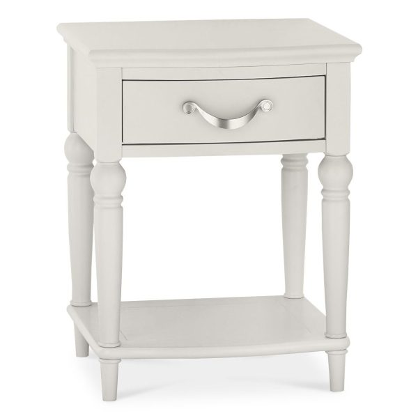 Montreux Soft Grey 1 Drawer Nightstand