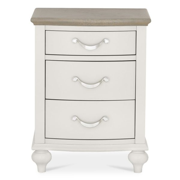 Montreux Washed Oak & Soft Grey 3 Drawer Nightstand