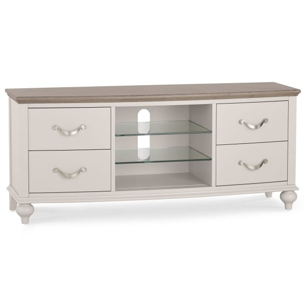 Montreux Washed Oak & Soft Grey Entertainment Unit