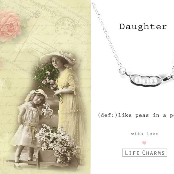 'Daughter' Like Peas In A Pod Necklace