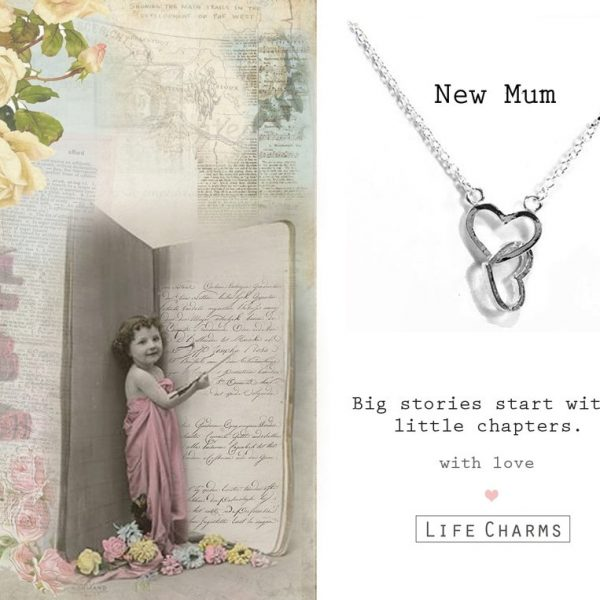 'New Mum' Linked Hearts Necklace