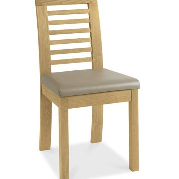 Casa Oak Slatted Chair PAIR