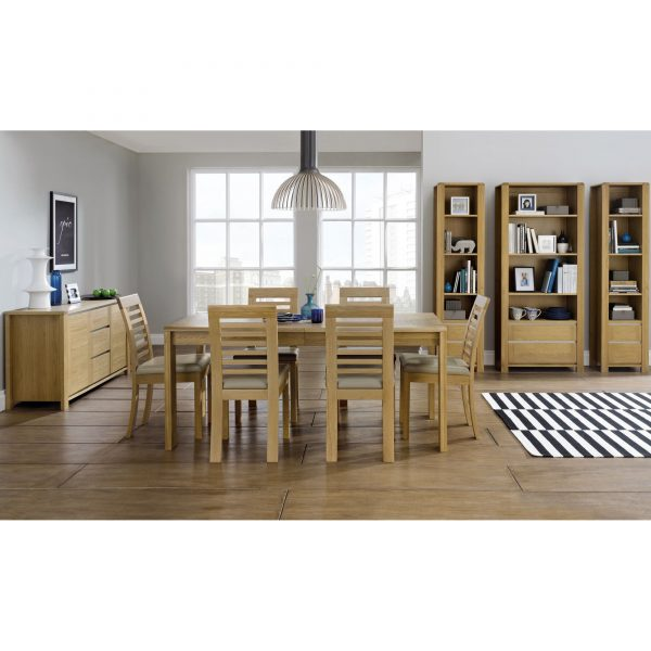 Casa Oak Upholstered Chair PAIR