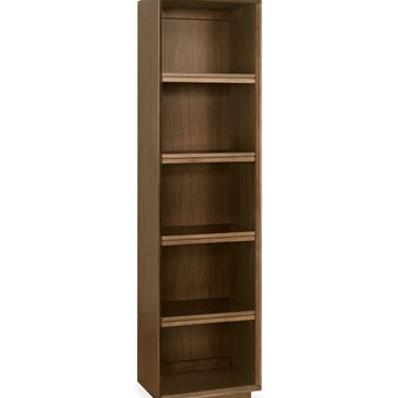 City Walnut Narrow Bookcase