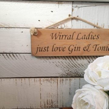 Wall Plaque - Wirral Ladies Just Love Gin & Tonic