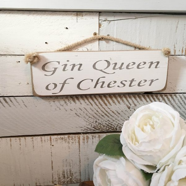 Wall Plaque - Gin Queen of Chester